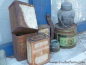 Tins of all types, rusty optional