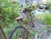 Antique Newspaper Delivery Bicycle