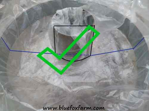 Use this method for the center hole mold