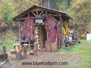 The Livery woodshed...