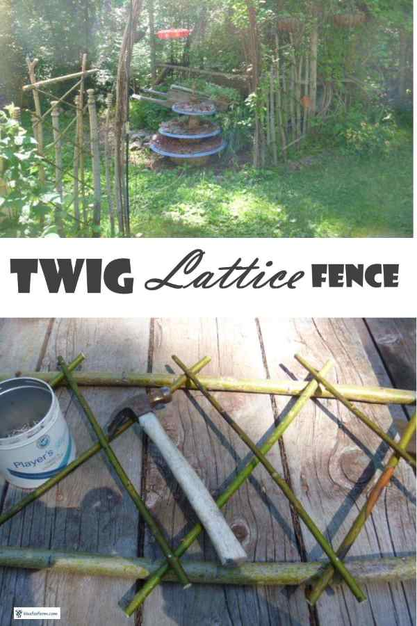Twig Lattice Fence Unusual Ways To Build Distinctive