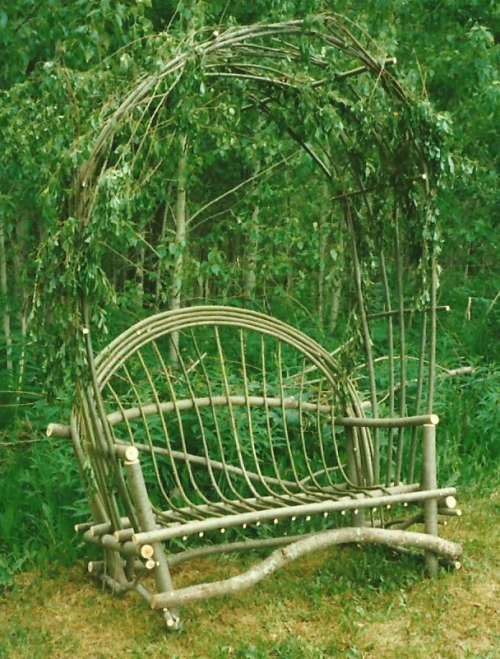 Rustic Twig Arbor Chair to grace your wild garden