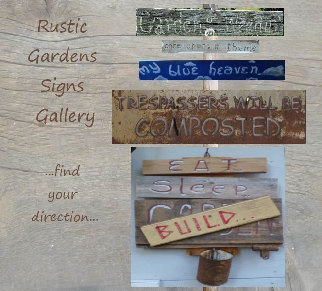 Paint a rustic Garden Sign...