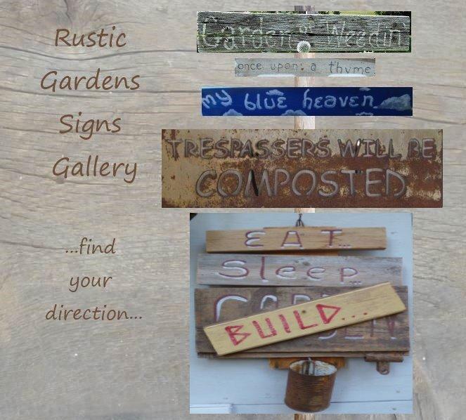 Paint a rustic Garden Sign...