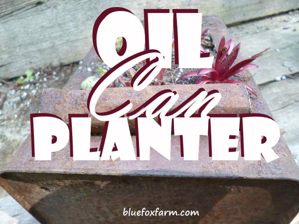 Oil Can Planter