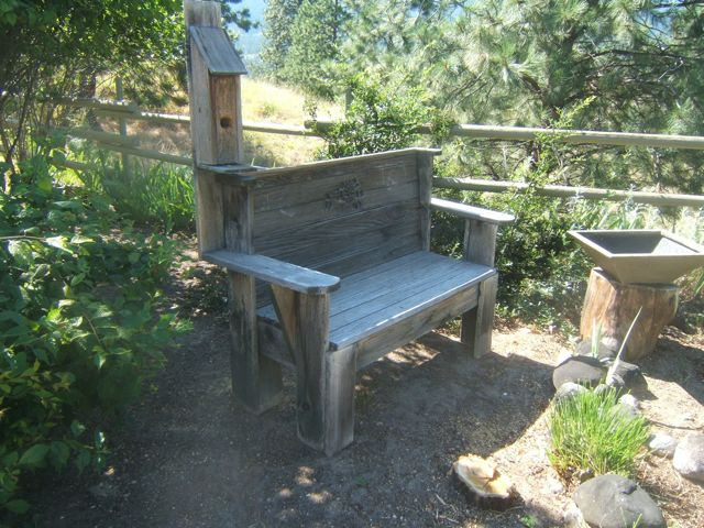 Sensible Gardening shows a combination of resting places - both a place to sit and to raise a family...