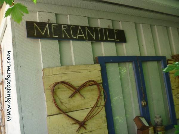 The Mercantile Power Shack is constantly undergoing some love...see more about building this on Frill Free...