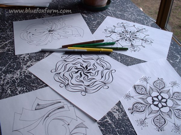 Drawing Mandalas is fascinating and fun...