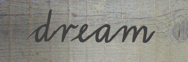 Dream...build yourself a rustic garden sign...
