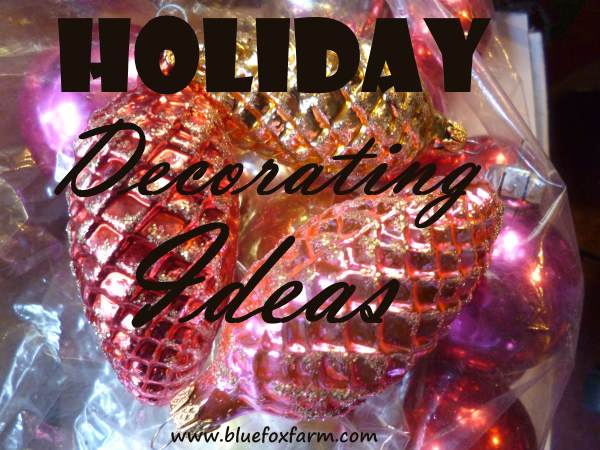 Holiday Decorating Ideas - vintage pine cone baubles...