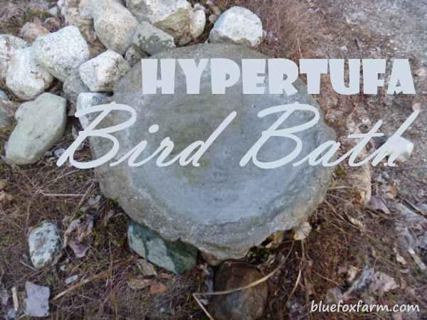 Hypertufa Bird Bath