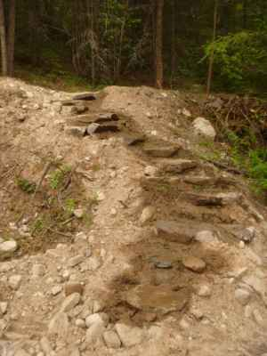 A Step in Thyme - rock staircase leading up the hillside - a favorite walk