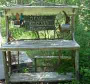 Rustic Potting Bench - build  your own..