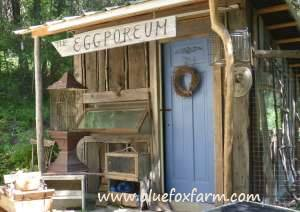 The Eggporeum chicken hotel - see more about the Eclectic Eggporeum here...