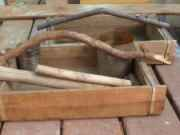 twig handles on rustic boxes