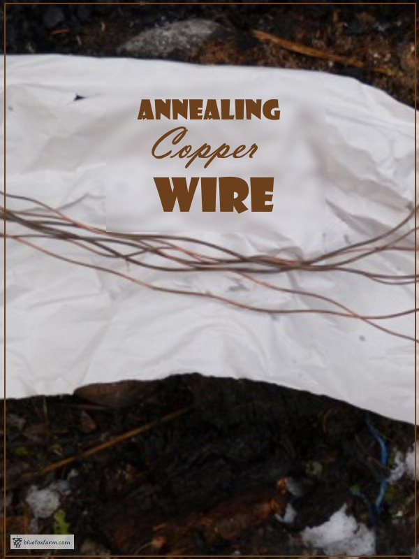 Make copper wire pliable and easy to work with...