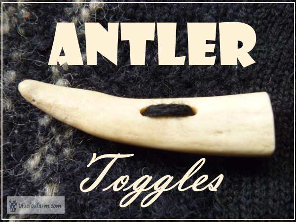 Antler Toggles for your hand woven or knitted garment...