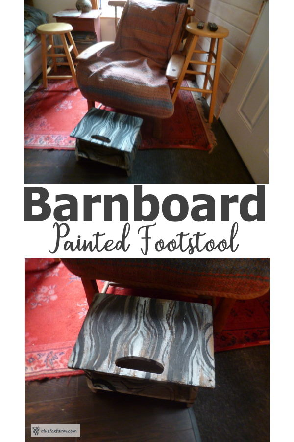 Barnboard Painted Footstool