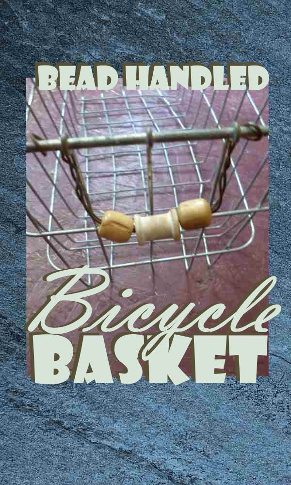 Bead Handled Bicycle Basket