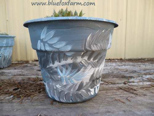 Blue Painted Pot