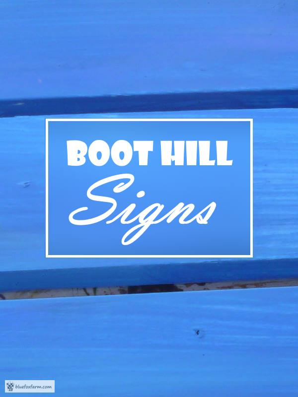 Boot Hill Signs - garden sign diy