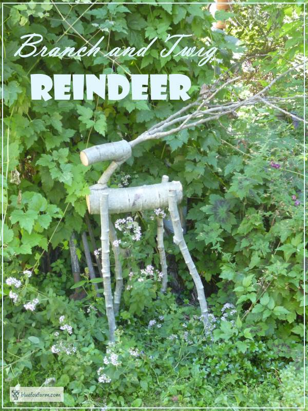 Reindeer for your garden made from twigs and branches