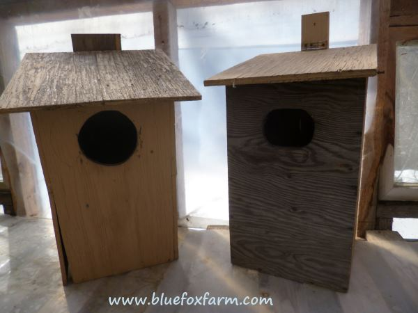 Starting with these plywood nesting boxes...