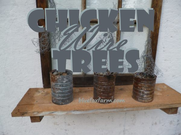 Chicken Wire Tree Prim And Rustic Christmas Decor