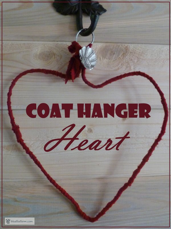 A primitive Coat Hanger Heart...