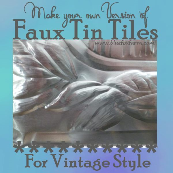 Find out how to make your own Faux Tin Tiles