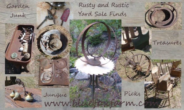 Rustic and Rustic yard sale finds...