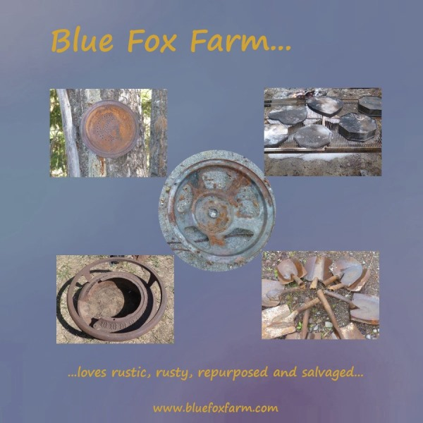 Blue Fox Farm loves rustic salvage...