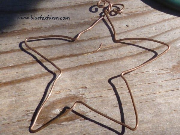 A finished Copper Wire Star...