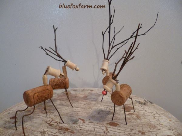 Cork and Twig Reindeer
