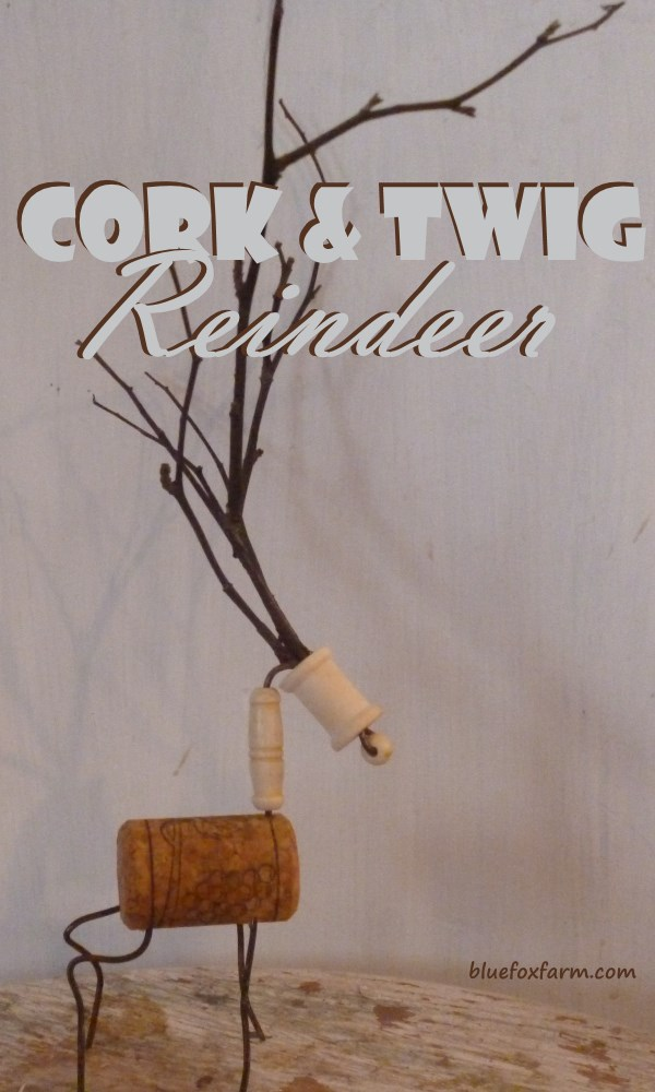 Cork and Twig Reindeer Christmas Ornaments