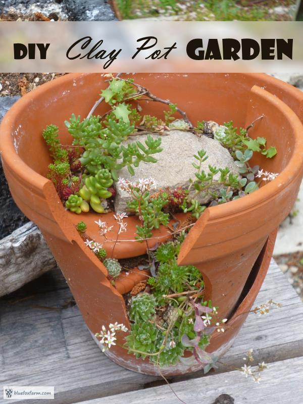diy clay pot garden make your own fairy garden