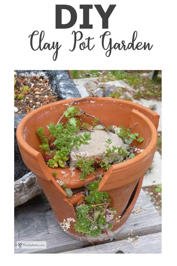 DIY Clay Pot Garden