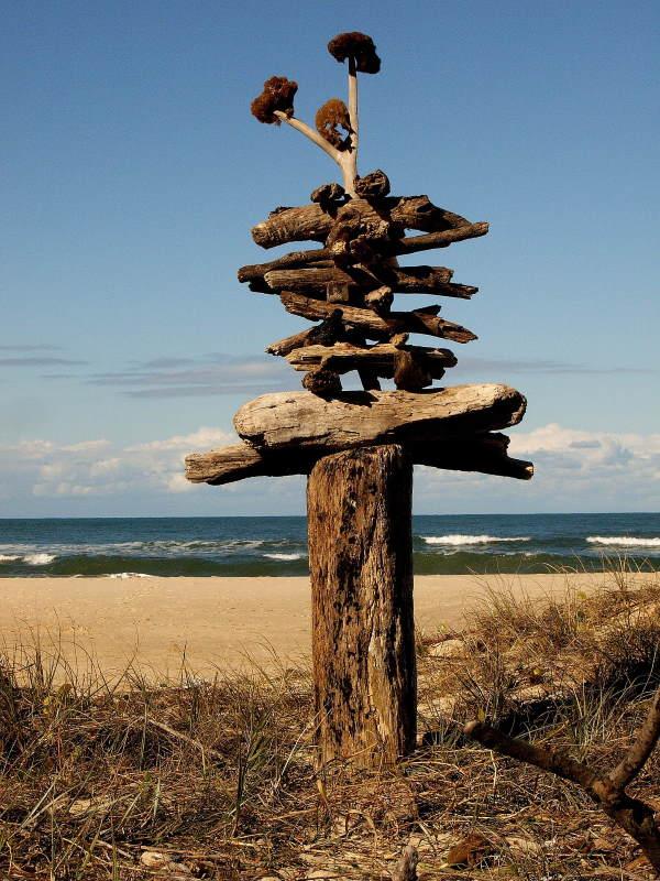 Driftwood Inukshuk
