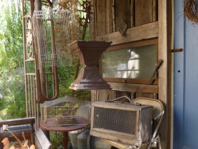 Bird cages, chicken house furniture and tools; what else would I put here?
