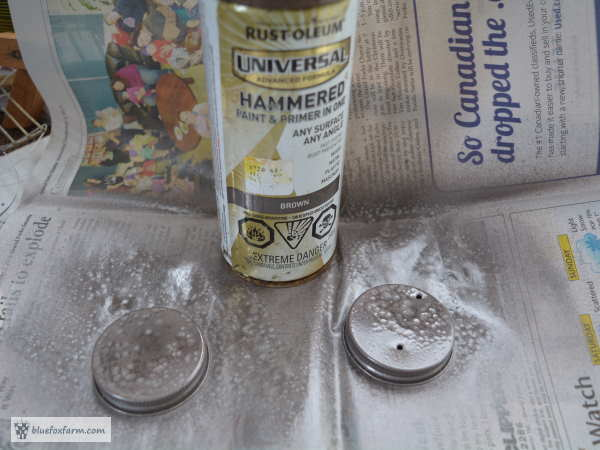 Rustoleum Hammered Bronze spray paint