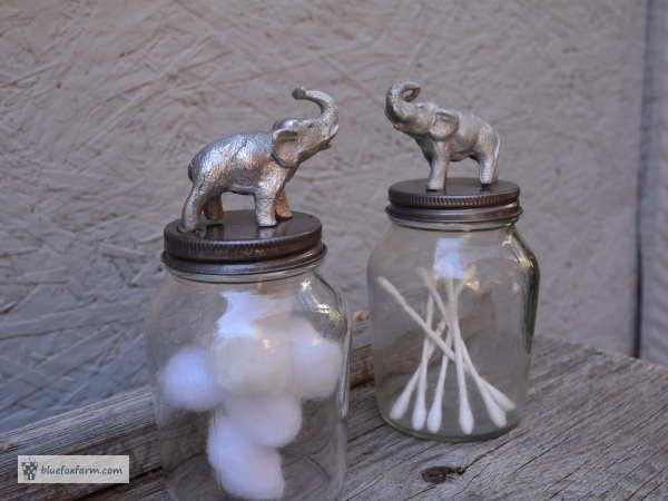 The finished Elephant Jars