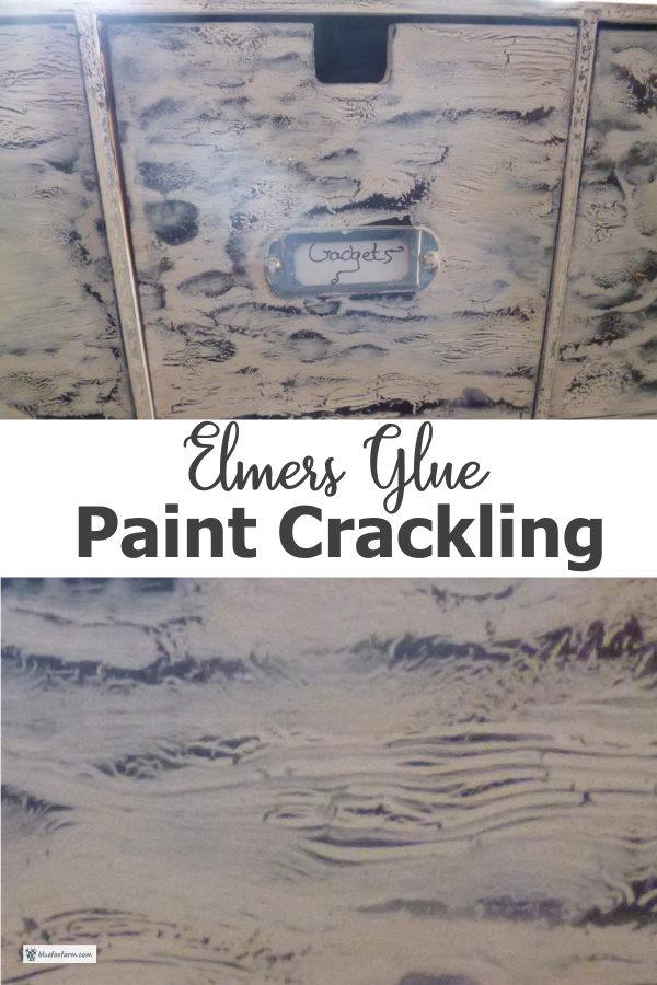 Elmers Glue Paint Crackling Technique...
