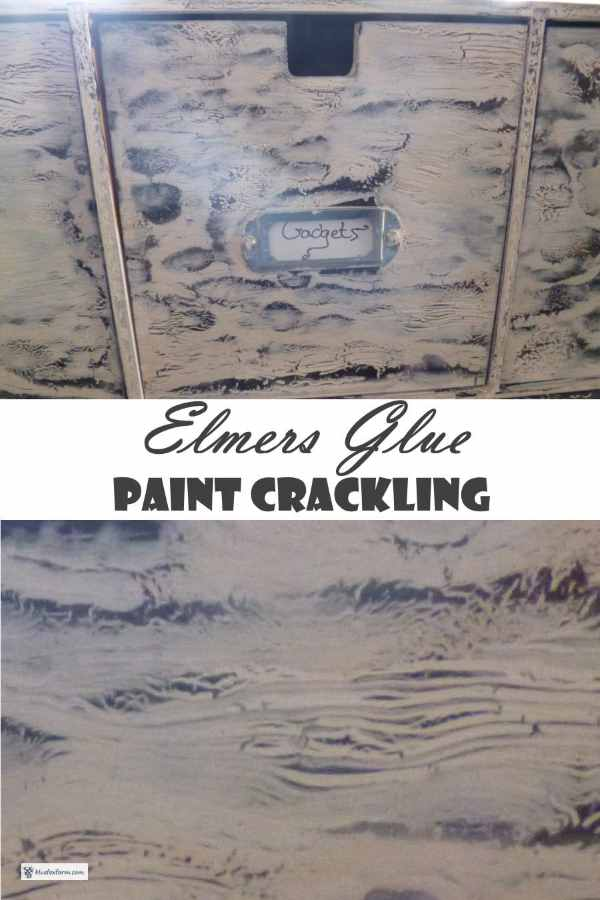 Elmers Glue Paint Crackling Technique...