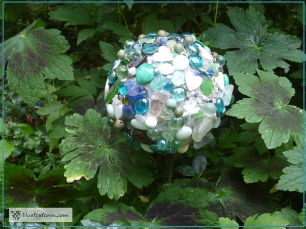 Encrusted Cannonball Gemmed Gazing Ball