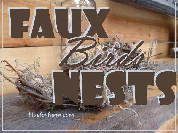 Faux Birds Nests