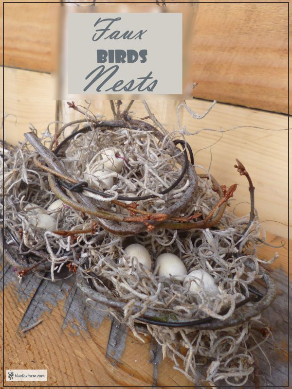 Faux Birds Nests