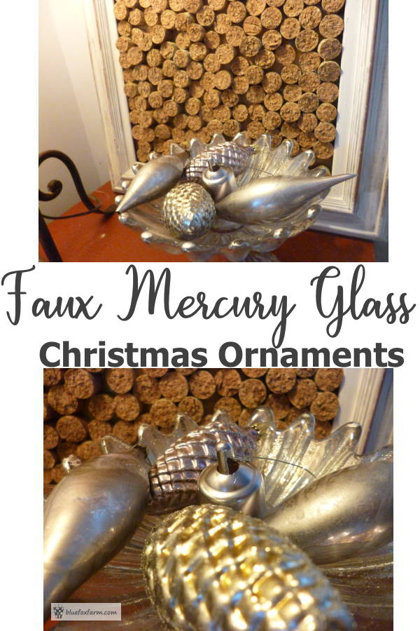 Faux Mercury Glass Christmas Ornaments