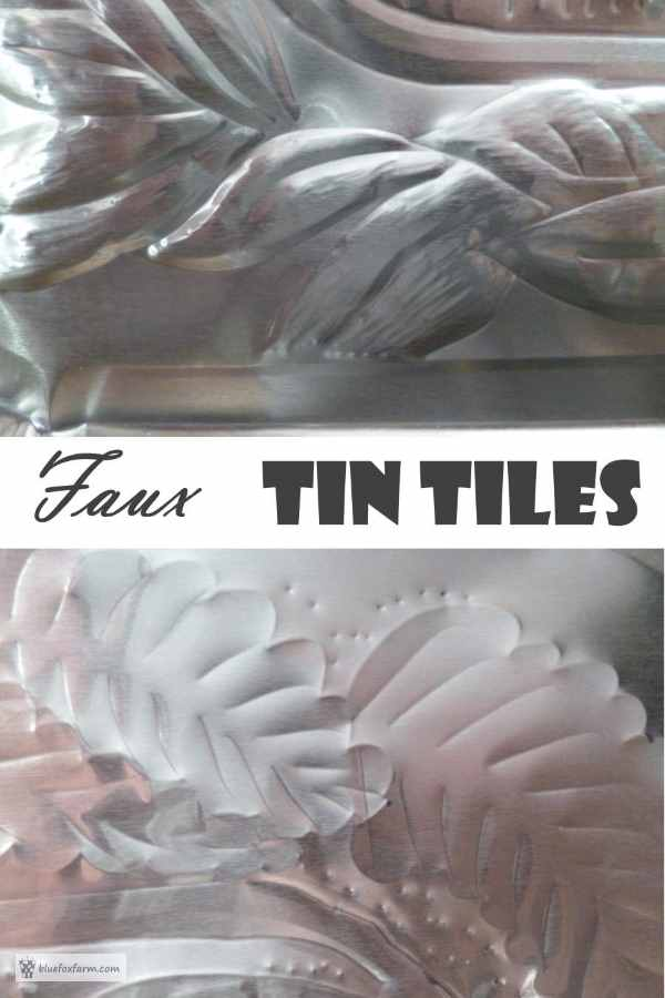 Faux Tin Tiles for a touch of vintage