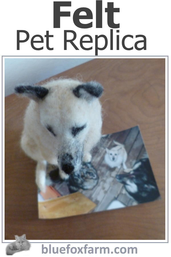 Felt Pet Replica - Tiggy, immortalized in felt...