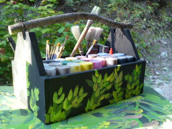 Wooden Tool Tote